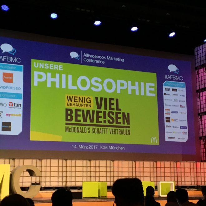 Allfacebook Marketing Conference 2017 in München #AFBMC #McDonalds