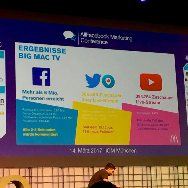 Allfacebook Marketing Conference 2017 in München #AFBMC #McDonalds