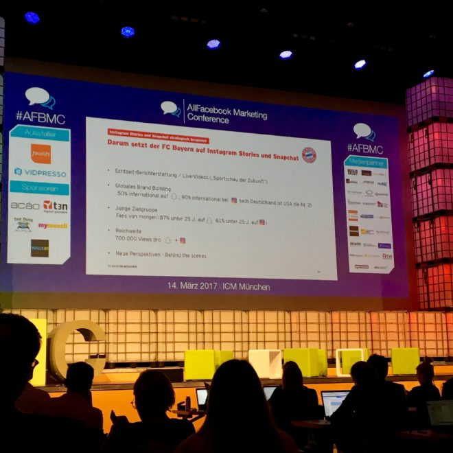 Allfacebook Marketing Conference 2017 in München #AFBMC #FCBayern