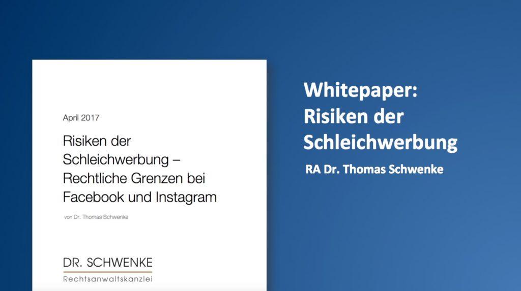 Whitepaper: Risiken der Schleichwerbung – Rechtliche Grenzen bei Facebook und Instagram