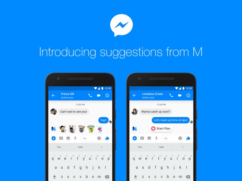 """Facebook """"M"""" – Artificial Intelligence und Vorschläge im Facebook Messenger"""