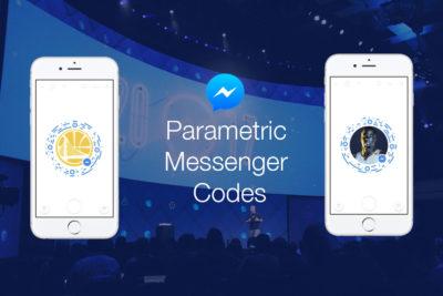 Mit den neuen Parametric Messenger Codes können Parameter an Bots übergeben werden (F8 2017)