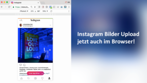 Instagram Bilder direkt am Rechner veröffentlichen