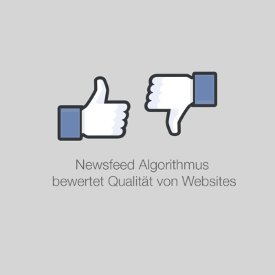 """Newsfeed Algorithmus bewertet nun die Qualität der verlinkten Webseite und straft """"low-quality"""" Seiten ab"""