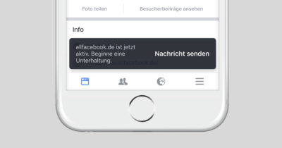 Push Nachricht für Direktnachrichten auf Facebook Seiten und die Optionen dazu