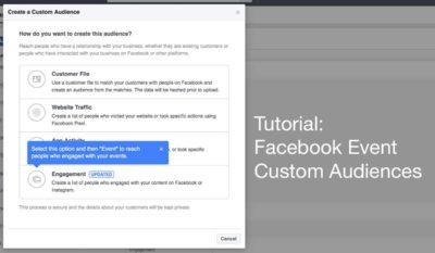 Tutorial: Custom Audiences aus einem Facebook Event erstellen