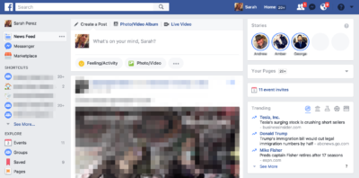 Facebook testet Stories am Desktop PC