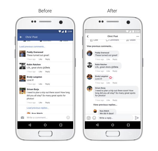 Neues Design für Facebook Kommentare