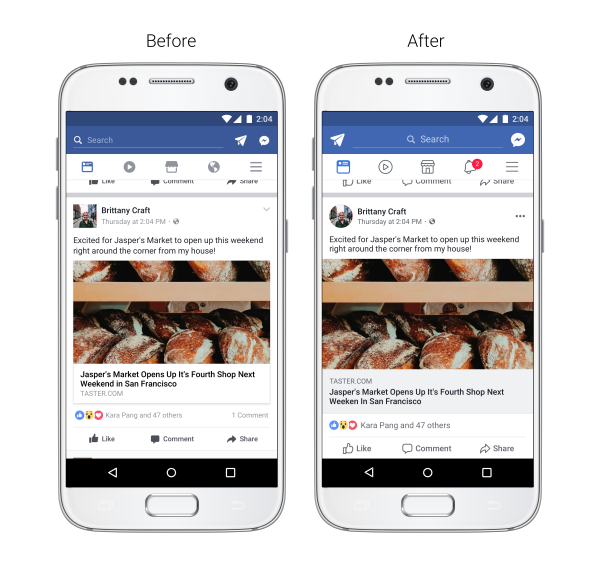 Redesign der Facebook Navigation