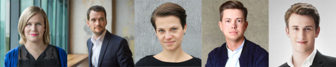 Unsere Speaker (v.l.n.r): Anika, Johannes, Janine, Christopher & Stefan