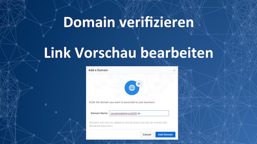 Webseite bei Facebook verifizieren und Link Vorschau bearbeiten (Deadline: 08 Mai 2018)