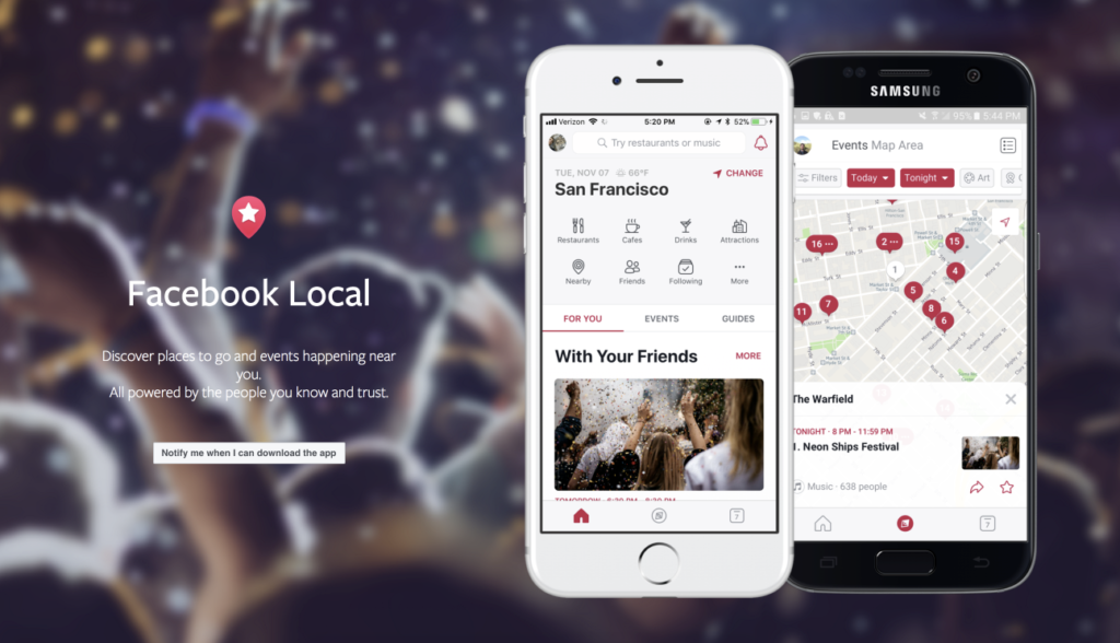 Facebook Local – neue App für Restaurants, Bars und Events