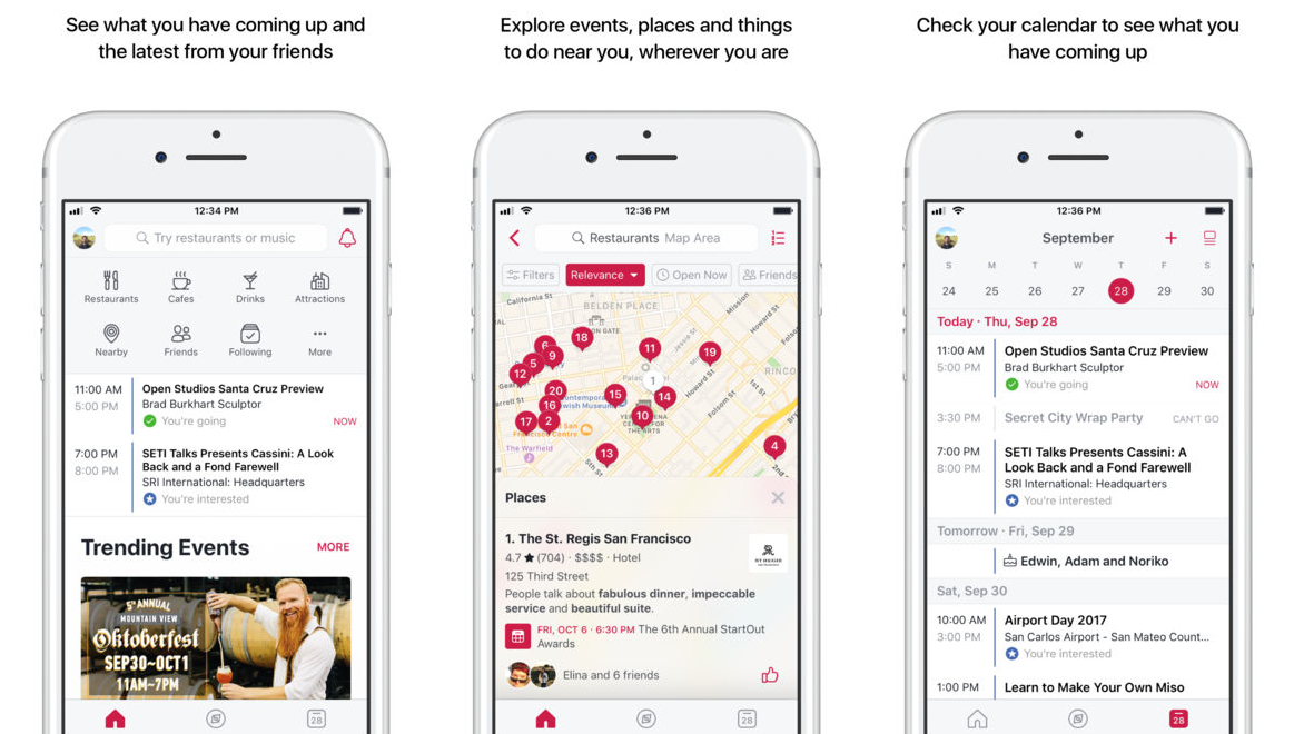 Facebook Local Neue App Für Restaurants Bars Und Events