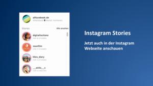 Instagram Stories am Desktop Browser schauen