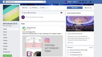 Neuer About Bereich für Unternehmen auf Facebook Seiten