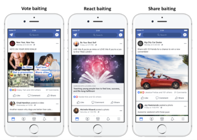 Newsfeed Update: keine Reichweite mehr für Engagement Baiting