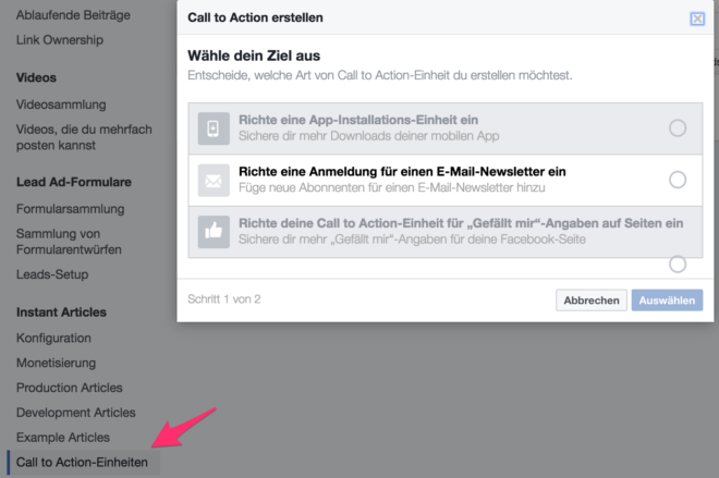 Instant Article Call to Action