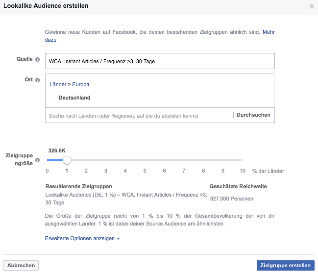 Instant Article Website Custom Audience