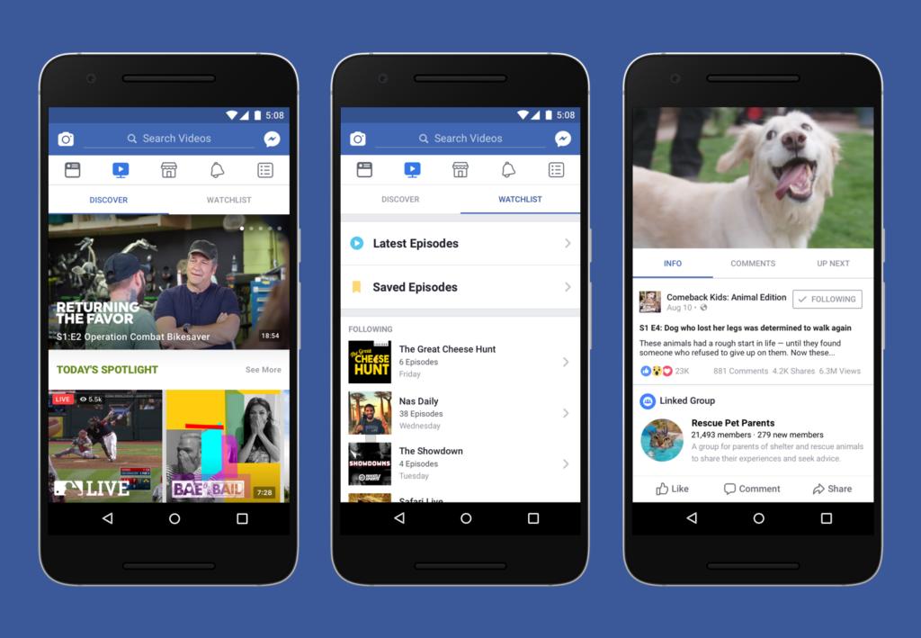 Facebook Watch: Details und erste Testnutzer in Europa