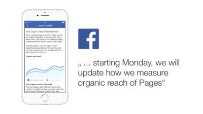Facebook berechnet die organische Reichweite zukünftig anders