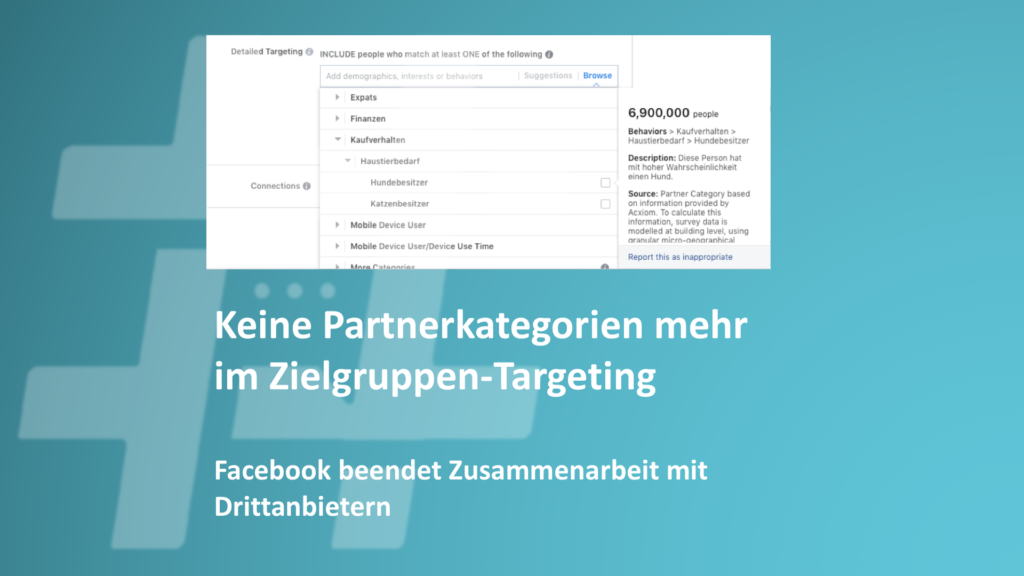 Facebook beendet vorerst Zusammenarbeit mit externen Datenanbietern (Update)