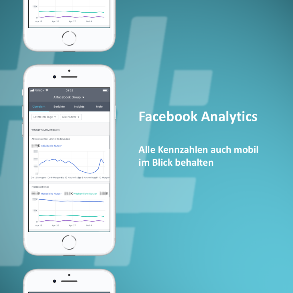 Facebook Analytics App fürs Handy