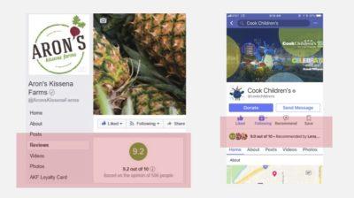 Facebook testet neues Bewertungssystem für Seiten mit Rating von 1 bis 10