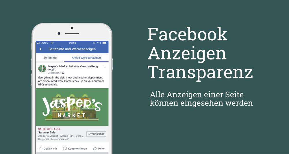 Neue Transparenzoffensive: Werbeanzeigen von allen Pages jetzt abrufbar