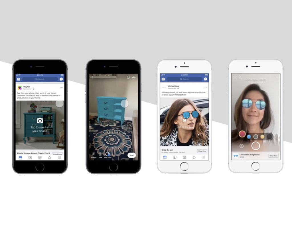 Neu: Augmented Reality Anzeigen auf Facebook