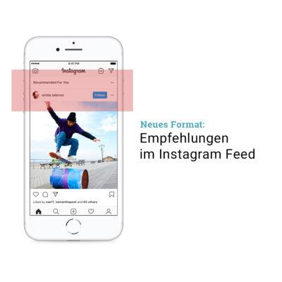 """Test: """"Empfehlungen"""" als neues Format am Ende des Instagram Feeds"""
