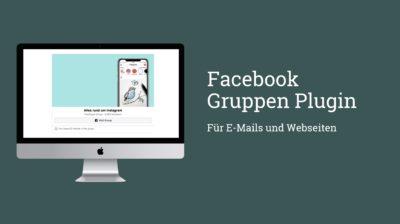Facebook Gruppen: E-Mail Einladungen und Social Plugin für Webseiten