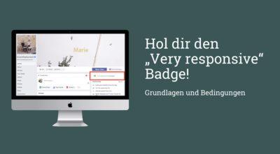 """So bekommt ihr das """"very responsive"""" Icon für eure Facebook Page (Update)"""