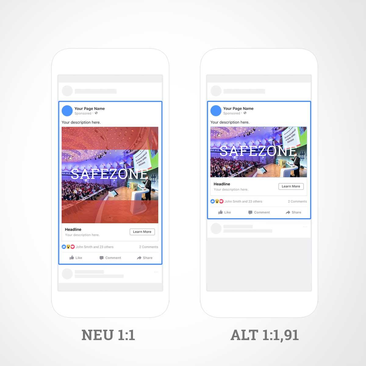 Facebook Link Ads Neues Format Für Das Vorschaubild Im Feed