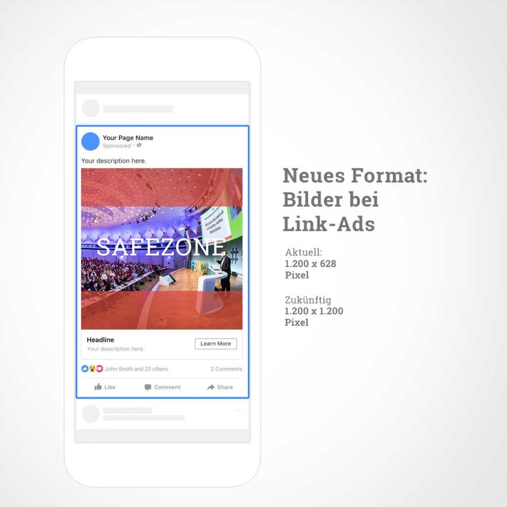 Facebook Link-Ads: neues Format für das Vorschaubild im Feed