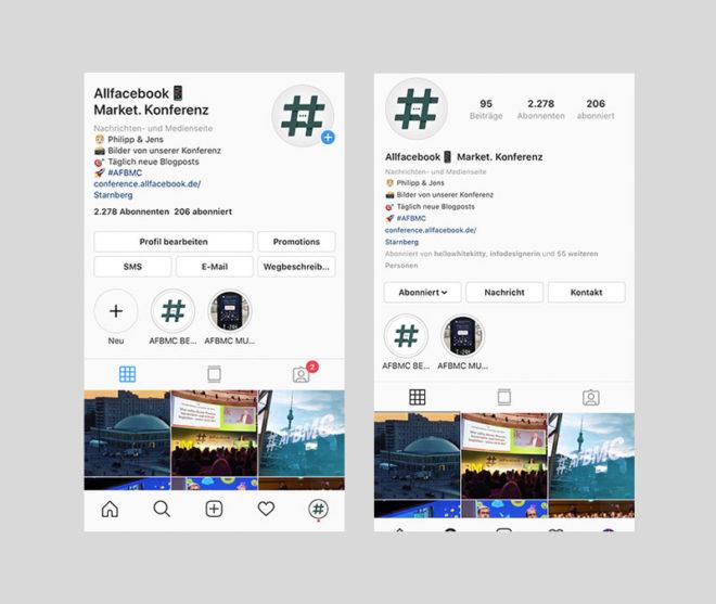 Design profil instagram neues Instagram Profile