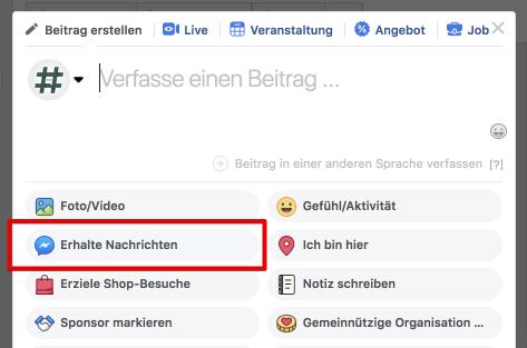 Facebook Kontaktformular
