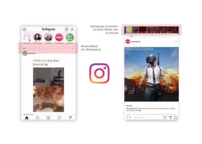 Test: Ein horizontaler Feed für Instagram