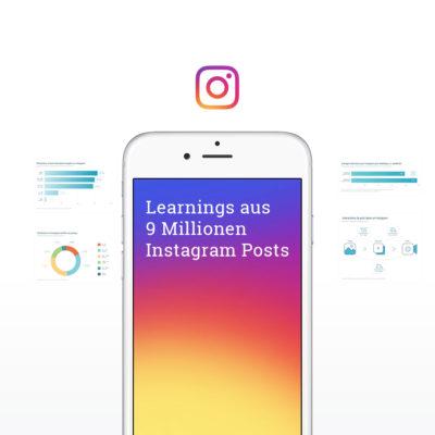 Instagram Studie: Das haben wir aus der Analyse von fast 9 Millionen Posts gelernt