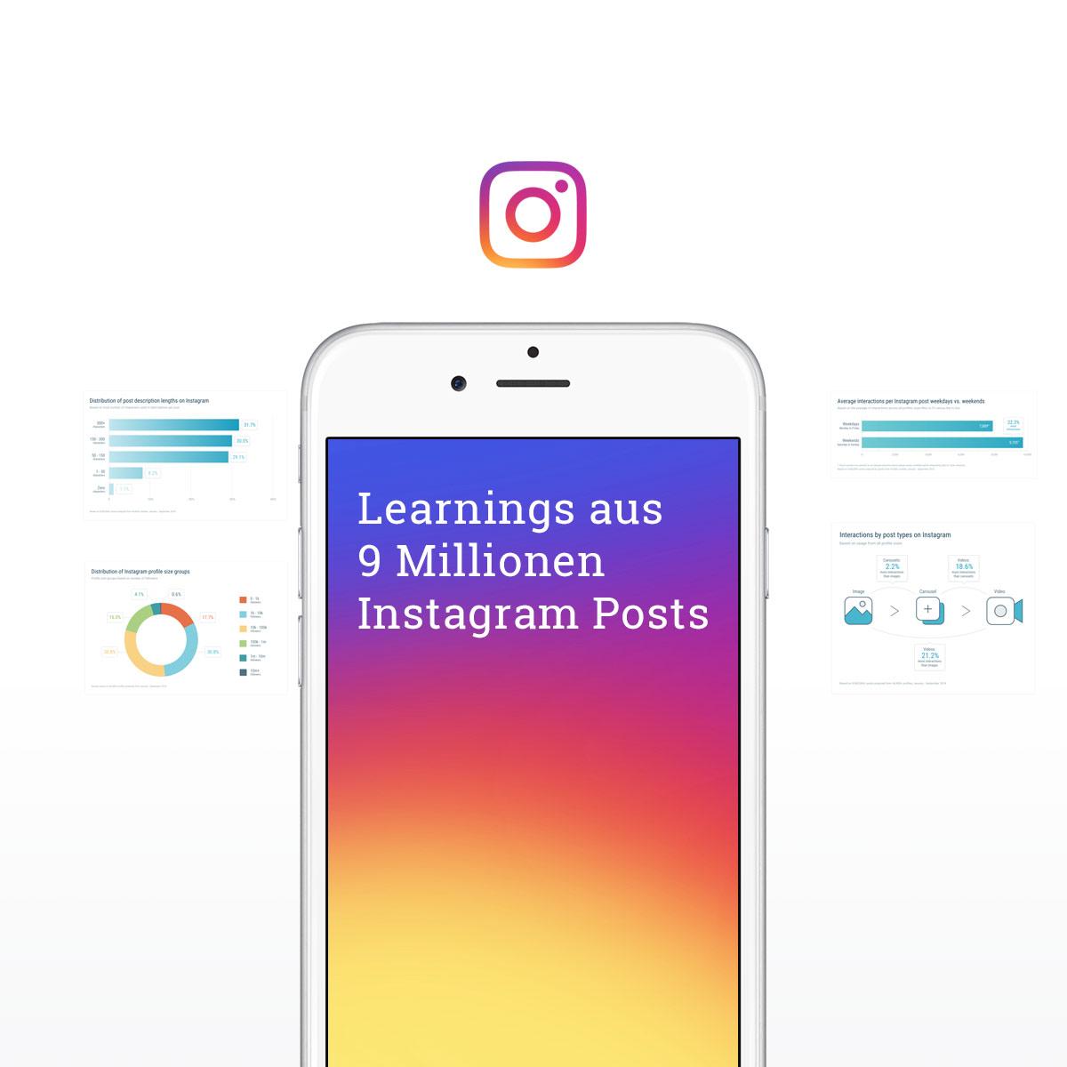 Instagram Studie Das Haben Wir Aus Der Analyse Von Fast 9
