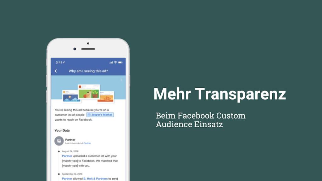 Mehr Transparenz bei Website Custom Audience