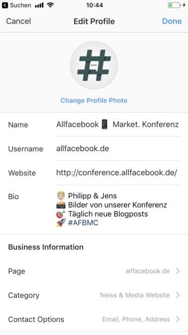 Account auf profil instagram war sehen wer business Instagram Business
