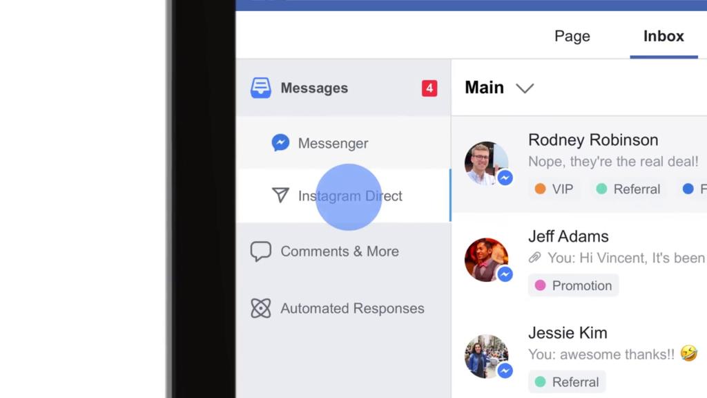 Für Unternehmen: Instagram Direktnachrichten auf Facebook bearbeiten