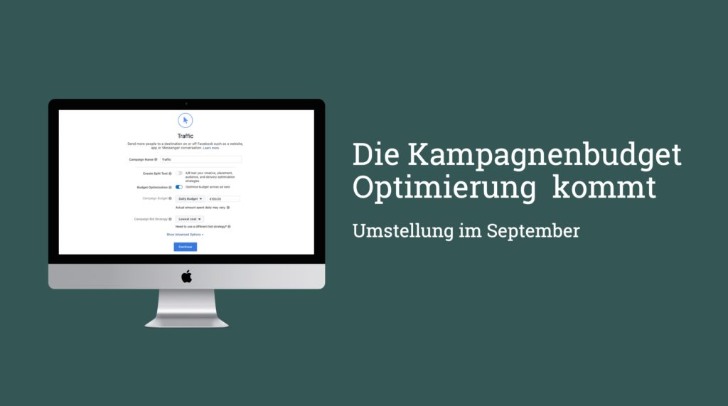 Campaign Budget Optimization: Große Umstellung im September