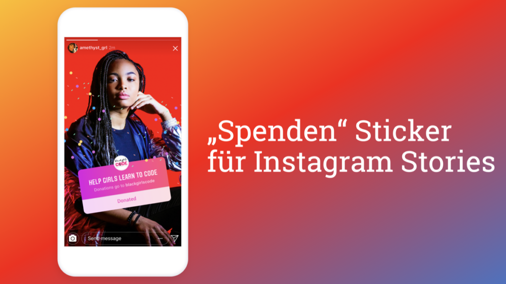 "Instagram ""Donate"" Sticker für NGOs startet in Deutschland"