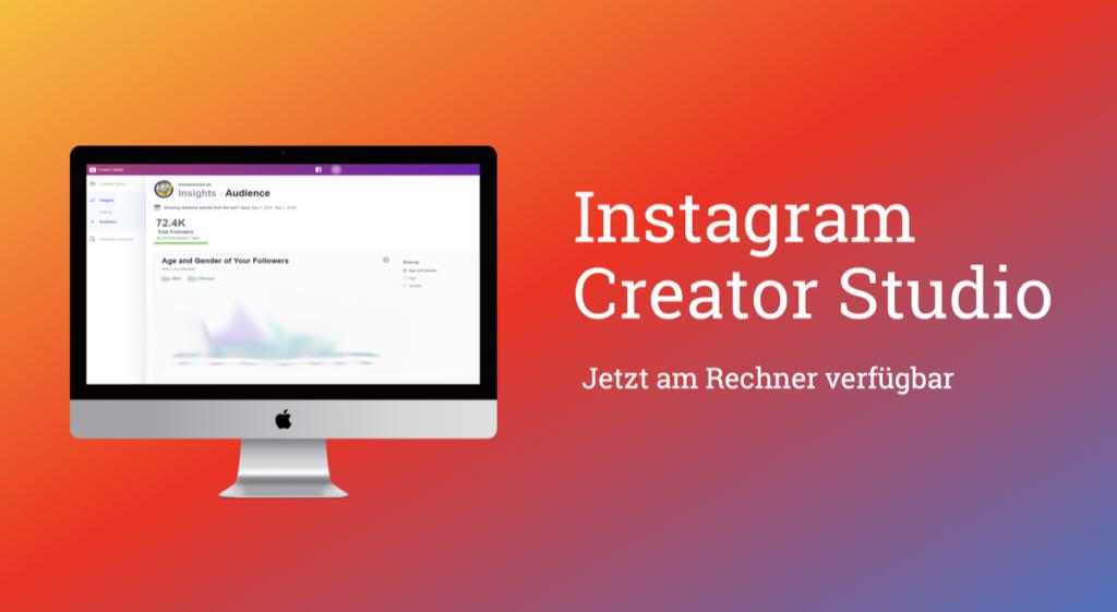 Nach dem Creator Profil folgt das Instagram Creator Studio!