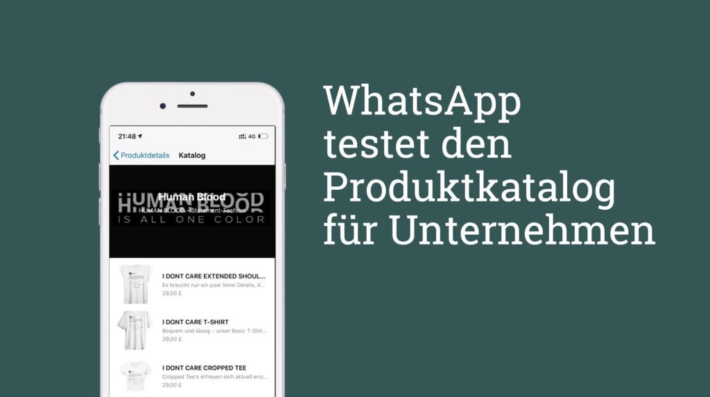 WhatsApp Produktkatalog – Test gestartet