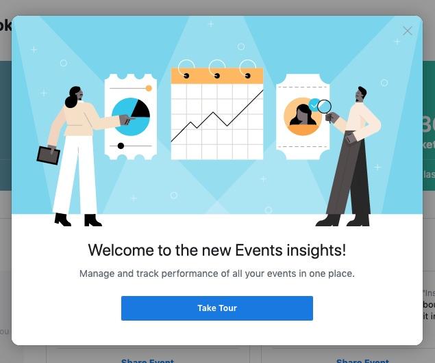 Rundgang: Facebook Events Dashboard (Neu) und Statistiken