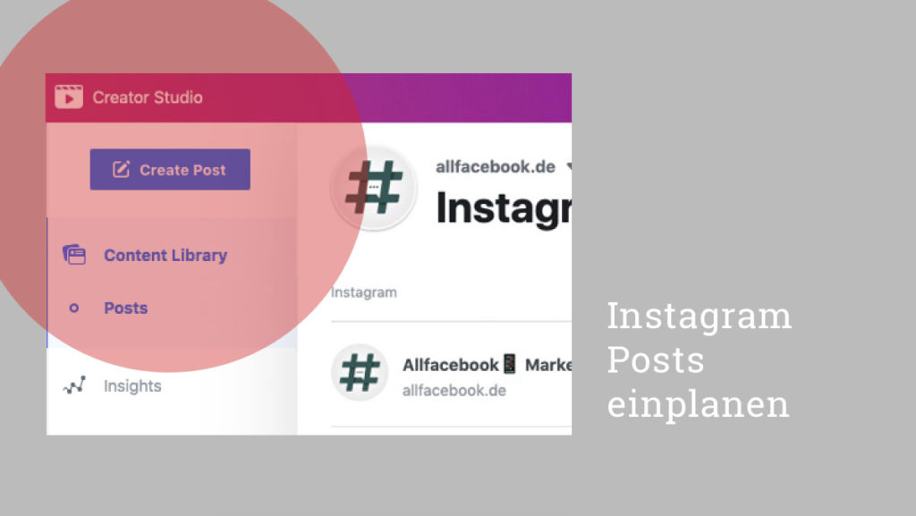 Tutorial: Instagram Posts einplanen