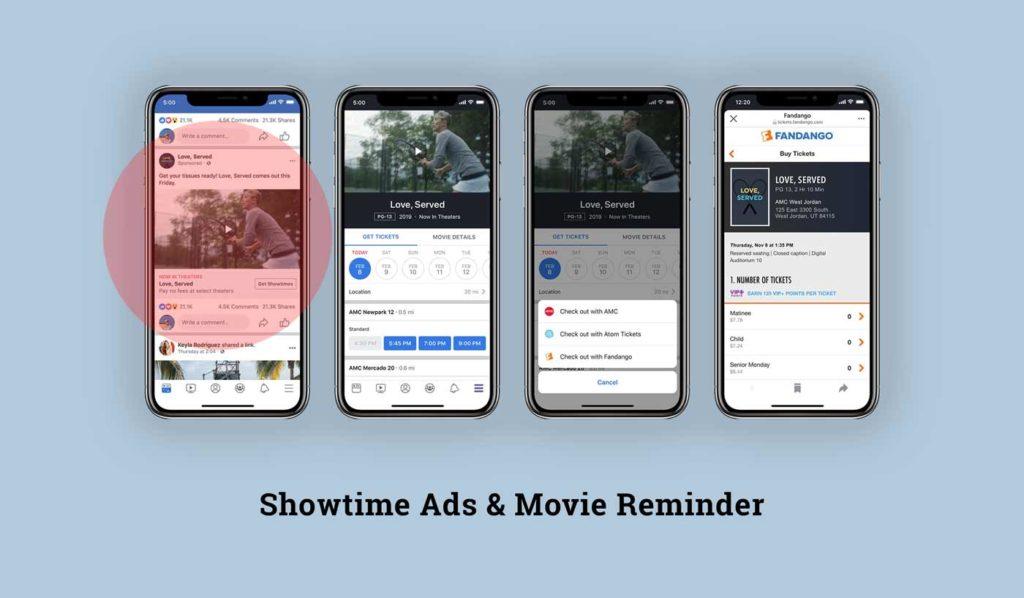 Neue Ad-Formate: Showtime Ads und Film Reminder