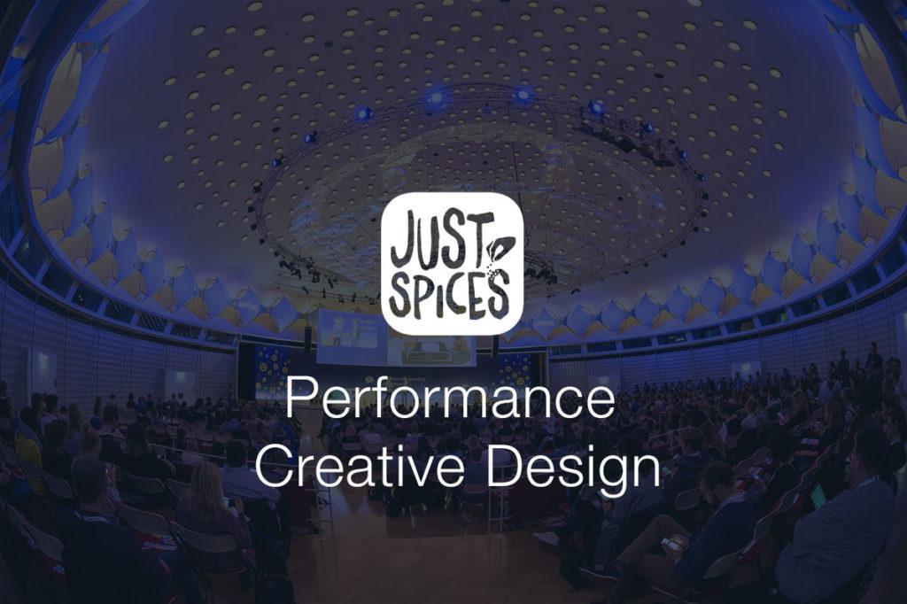 Performance-Creative-Design am Beispiel von Just Spices #AFBMC